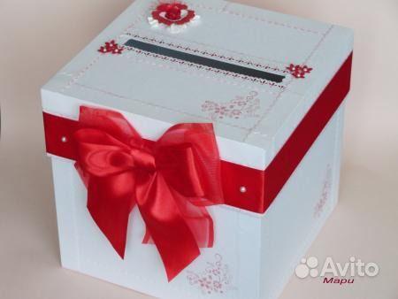 Украшение коробок на свадьбу
