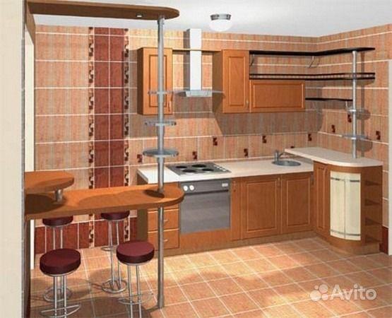 Дизайн кухни 6 кв с выходом на балкон