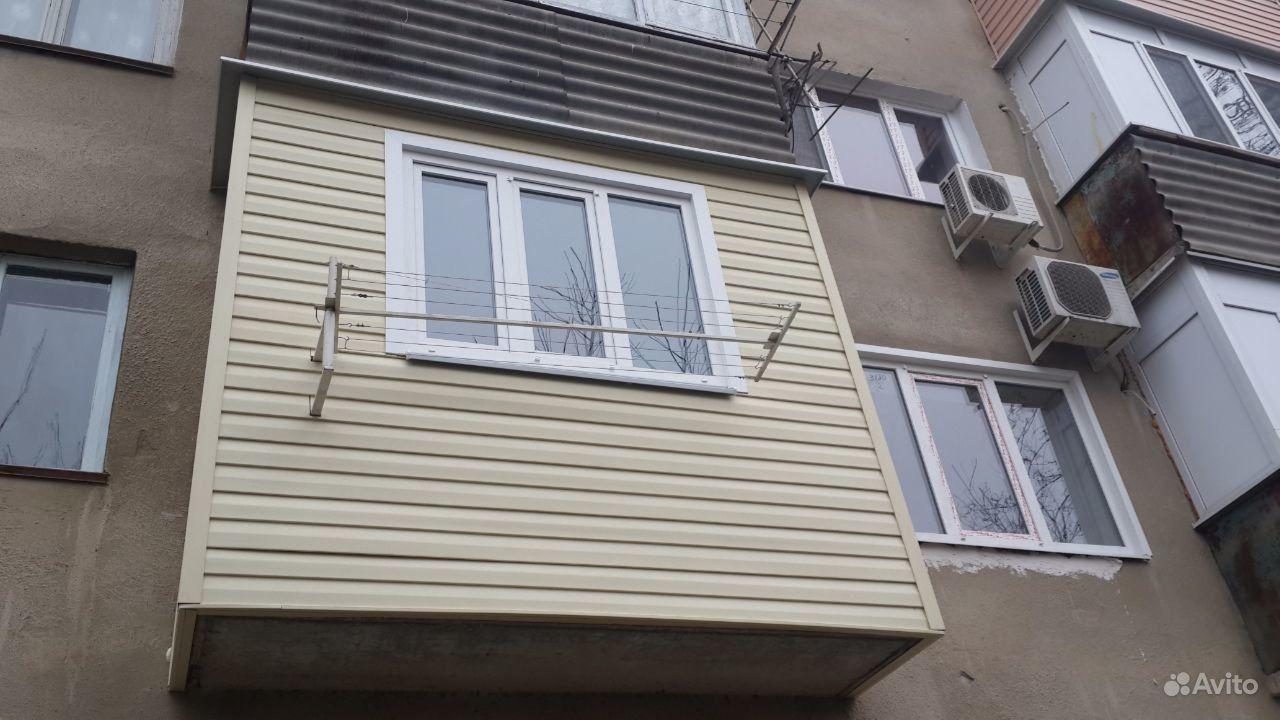 Ремонт сайдинг балкона.