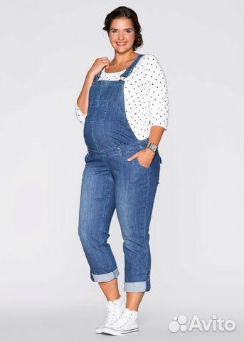 Комбинезоны женские джинсовые для полных