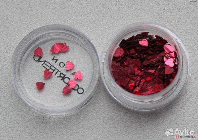 Блестки-сердечки для дизайна ногтей эйвон отзывы