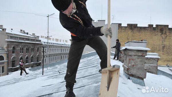 Снега с крыш и удалению сосулек на