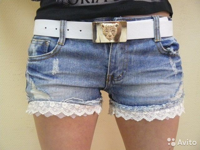 Из старых джинсов шорты своими руками