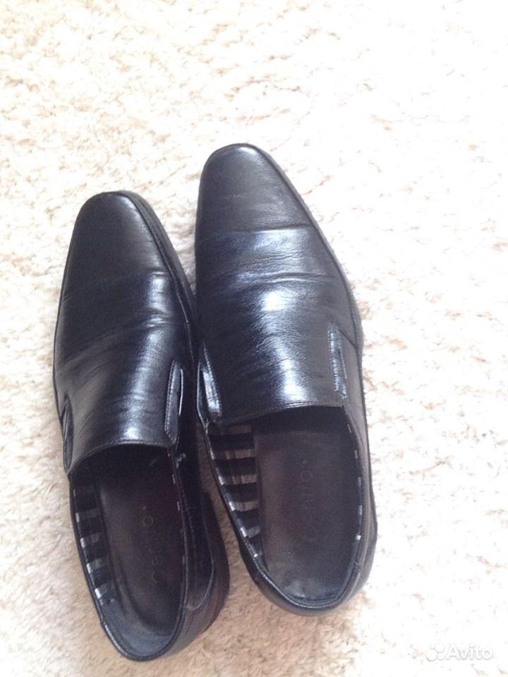 Коричневые нубуковые туфли