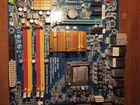 Материнская плата+CPU, видеокарта,HDD,DDR, блок п