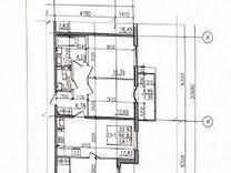3-к. квартира, 66,8м², 2/10эт.