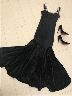 Вечернее платье рыбка