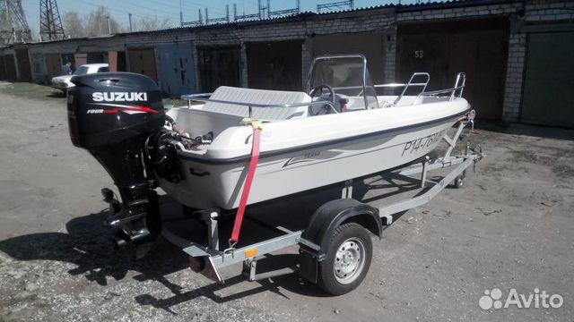 Лодка terhi + мотор suzuki DF50A + прицеп + гараж купить 1