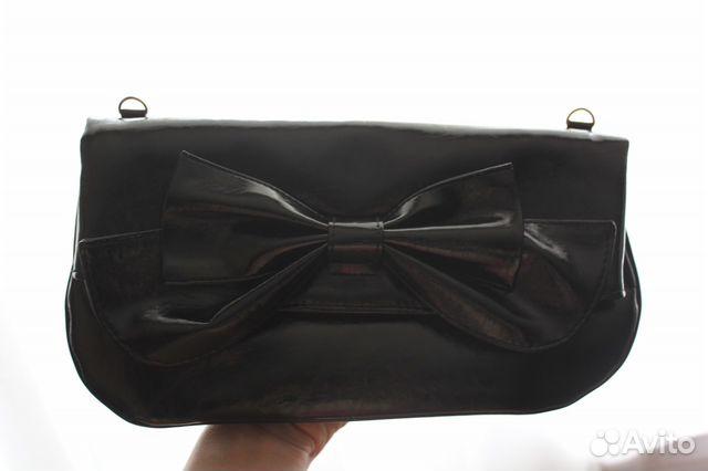 ad803c8c8bd5 Чёрный клатч с бантиком   Festima.Ru - Мониторинг объявлений