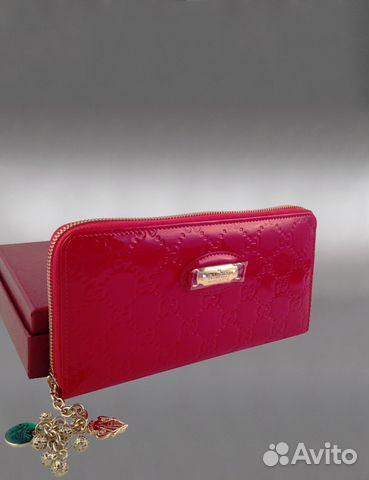 Женский кожаный кошелек Gucci арт.998-1 купить в Москве на Avito ... c75a9f51a9b