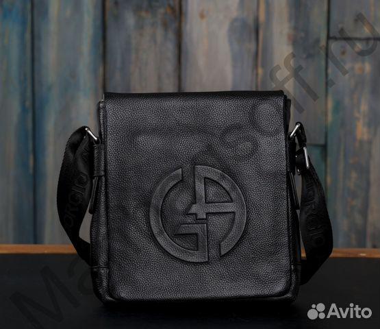 a2c975204 Мужская сумка из натуральной кожи Giorgio Armani | Festima.Ru ...