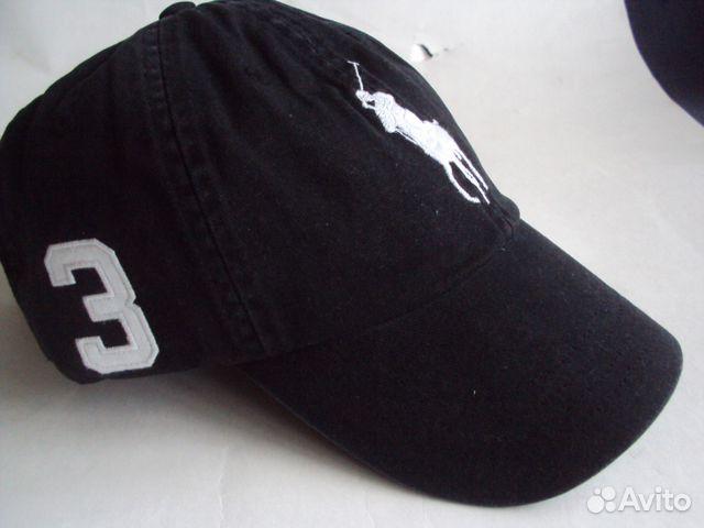 Кепка Polo Ralph Lauren BIG pony black  ff9dd4d7ddb92