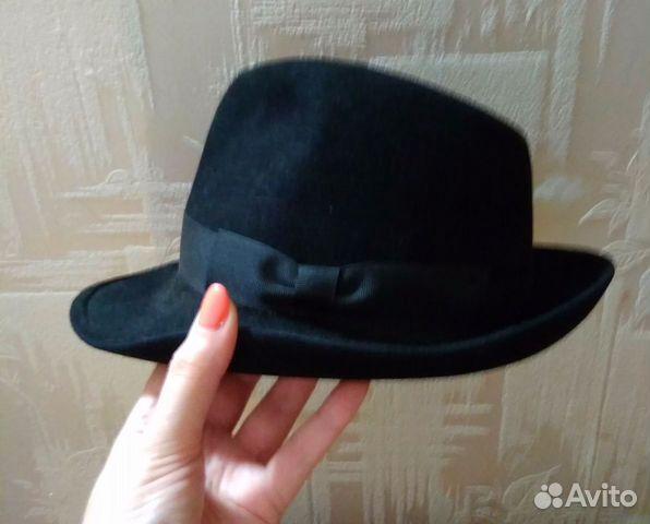 Шляпа фетровая черная