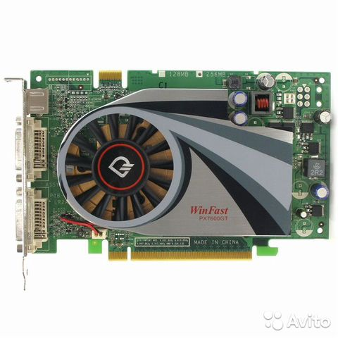 Видеокарта PCI-E 256Mb GeForce Fx7600Gt Leadtek Wi— фотография №1