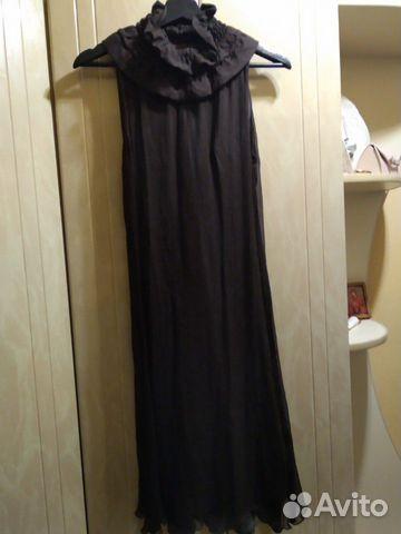 Платье, нат. шелк р.44-46,48  89038115339 купить 1