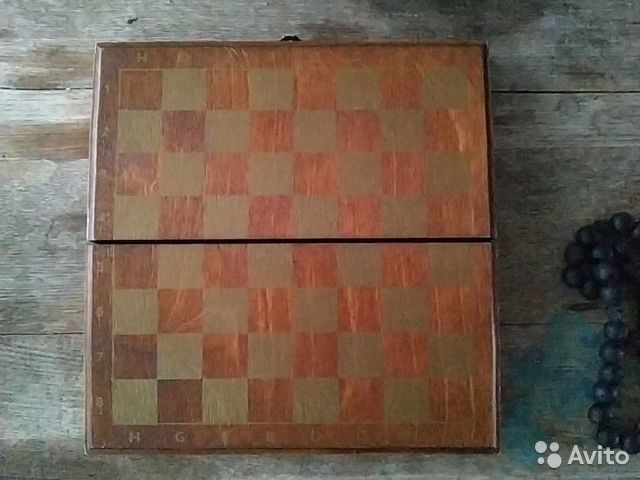 Шахматы шкатулка дерево