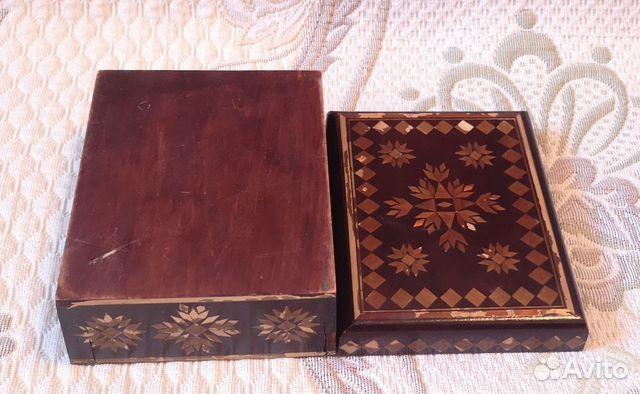 Деревянная шкатулка,СССР (16 см) 89137668817 купить 7