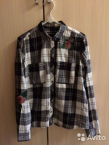 Клетчатая рубашка Cropp 89523916808 купить 1