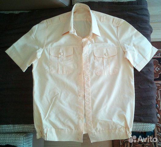 Рубашка кремовая вмф короткий рукав 89147007443 купить 1