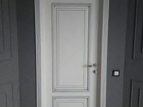 Двери эмаль патина серебро в комплекте