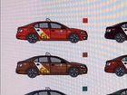 Реклама для такси, наклейки