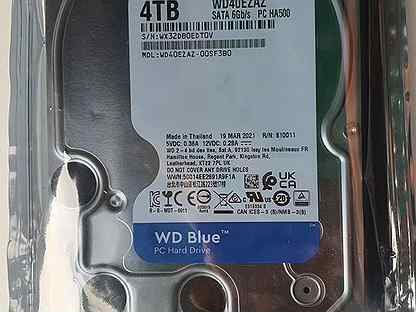 Жесткий диск 4тб WD Blue Кэш 256Мб Новый 2021