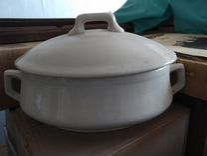 Фарфор белый доска супницы глазурь винтаж новые