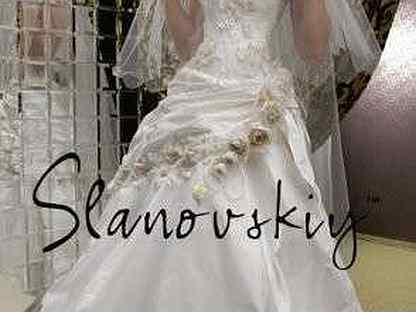 Свадебное платье 44 бу