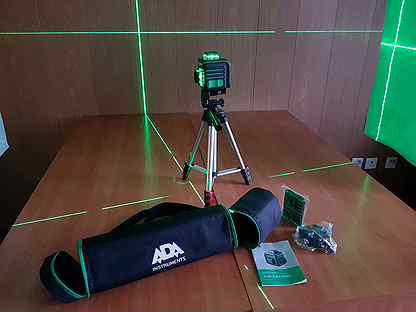 Новый лазерный уровень ADA Cube 3-360 green Profes