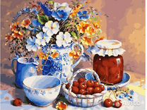 Картина по номерам Спелые вишни