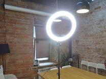 Кольцевая лампа. Лампа визажиста / блогера. Новая