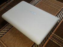 Нетбук Asus Белый+белый кожаный чехол