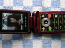 """Раскладушка """"SAMSUNG"""" SGH-E480 в рабочем состоянии"""