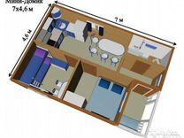 Садовый мини-домик 32м2 Б-41