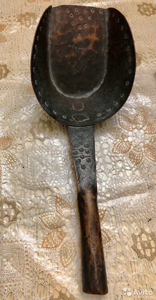 Ковш медный очень старинный примерно 18-19 век