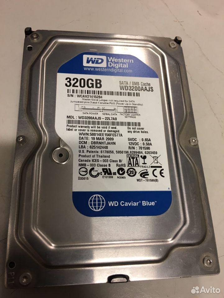 Жесткий диск WD blue 320Gb 3.5 SATA для системника